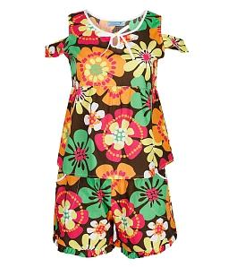 Bộ đồ mặc nhà Twins hở vai họa tiết bông hoa