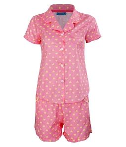 Bộ đồ mặc nhà Twins tim baby - Hồng