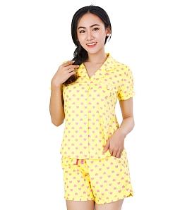 Bộ đồ mặc nhà Twins tim baby - Vàng