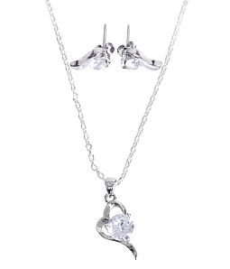 Bộ trang sức bạc Angel Heart sang trọng
