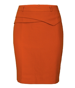 Chân váy ôm công sở cách điệu - Cam