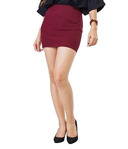 Chân váy ôm ngắn công sở SKYVER  J-02 - Đỏ