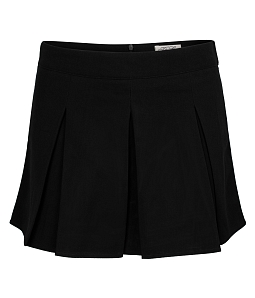 Chân váy quần xòe xếp ly thời trang - Đen