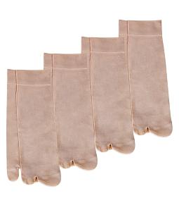 Combo 4 đôi vớ nữ Paragon gót da - Da