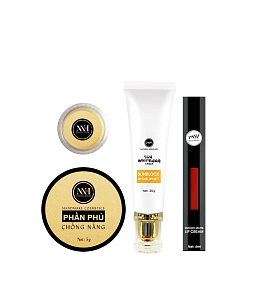 Combo make up MH Natural Skincare CBMK04 son đỏ cam