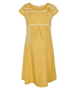 Đầm bầu phối hoa viền ren nữ tính 115 - Vàng