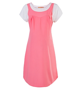 Đầm bầu xếp ly thời trang - Hồng