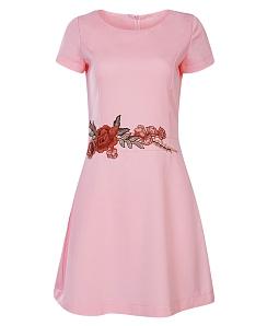 Đầm công sở nữ dây hoa eo