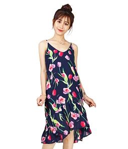Đầm dạo phố họa tiết xinh xắn