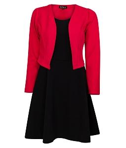 Đầm dạo phố kèm áo khoác xinh xắn