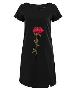 Đầm hoa hồng nữ dáng suông