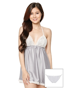 Đầm ngủ Dove + quần lót SEXY FOREVER DN004