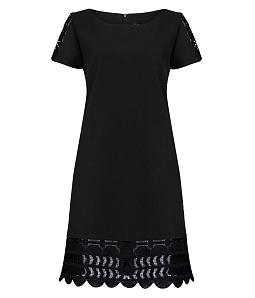 Đầm suông công sở nữ phối ren