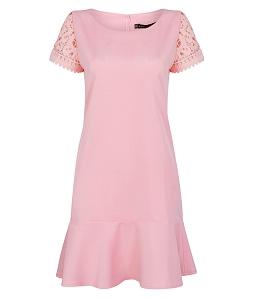 Đầm suông công sở nữ ren tay độc đáo
