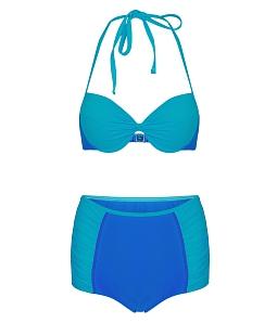 Đồ bơi bikini CORAL nhún lưng mavus BS010 - Xanh