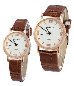 Đồng hồ cặp dây da Baisdn 01