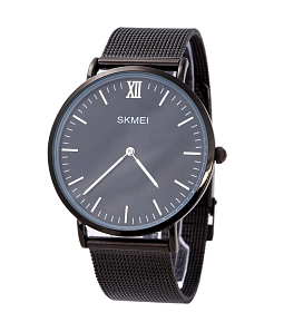 Đồng hồ nam SKMEI dây nhuyễn SK114 (Đen) - Đen