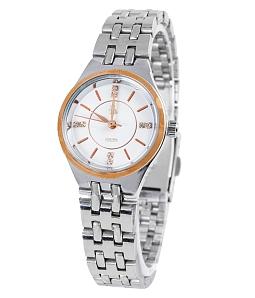 Đồng hồ nữ dây thép không gỉ Mortima GE113 - Trắng