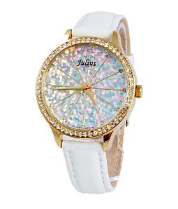 Đồng hồ nữ JULIUS Hàn Quốc chính hãng JU1010 (Trắng viền vàng)