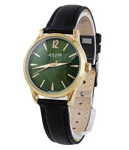 Đồng hồ nữ Julius hàn quốc JU1207 (ĐEN MẶT XANH)