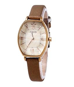 Đồng hồ nữ JULIUS Hàn Quốc mặt Ovan JU1160 (Nâu cafe)