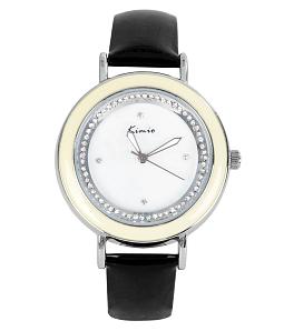 Đồng hồ nữ KIMIO vân ngọc viền đá KI017 đen