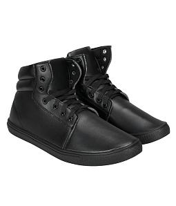 Giày boot nam cao cổ kiểu dáng sang trọng - Đen