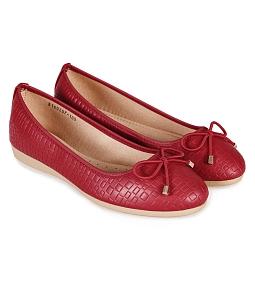 Giày búp bê nữ ép vân Anly QUICKFREE 108