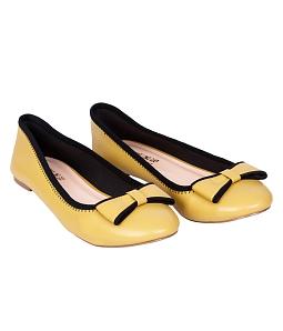 Giày búp bê phối nơ điệu đà - Vàng