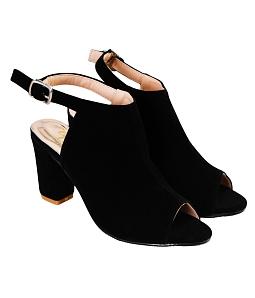 Giày cao gót nữ cá tính - Đen
