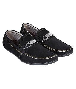 Giày lười nam Gia Vi phối khóa S127D - Đen