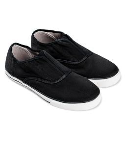 Giày lười nữ xẻ giữa AQUA O-001 - Đen