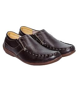 Giày nam Gia Vi da cao cấp AT2303 - Nâu