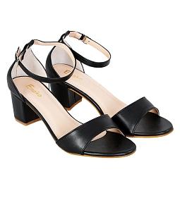 Giày nữ gót vuông thanh lịch - Đen