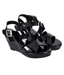 Giày sandal đế xuồng nữ quai chéo
