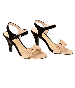 Giày sandal gót nhọn đính nơ SULILY SG1-I17 - Nude