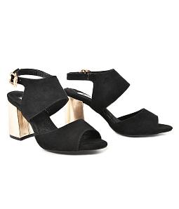 Giày sandal gót vuông bọc vàng SGV1-I17