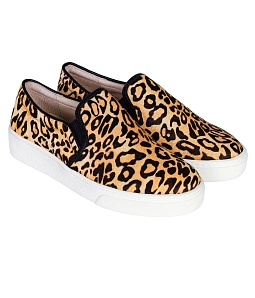 Giày Slip - on MUST Korea nữ da beo U06LEO