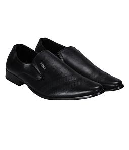 Giày tây nam công sở phối viền sang trọng - Đen