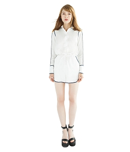 Jumsuit Satin Romper Can De Blanc D3047