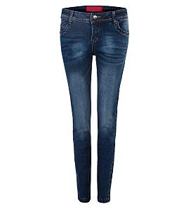 Quần jean dài nữ ECO JEAN classic 036 - Xanh đen