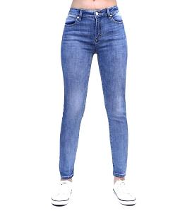 Quần jean nữ màu trơn style thời trang - Xanh
