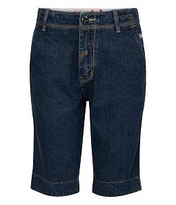 Quần jean short nam chỉ nổi - Xanh đen