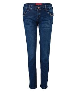 Quần jeans dài nữ ECO JEAN thời trang 027 - Xanh dương