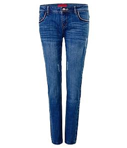 Quần jeans dài nữ ECO JEANS cá tính 017B - Xanh