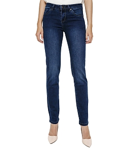 Quần Jeans nữ ống đứng AAA JEANS MN26 - Xanh
