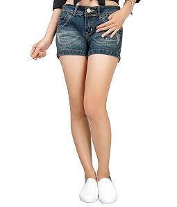 Quần short jean nữ ECO JEAN J-019-M1 - Xanh