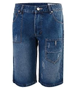 Quần short jeans phối túi KUMAS B10018 - Xanh