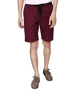 Quần short nam S.o.Z phối túi thời trang - Đỏ đô