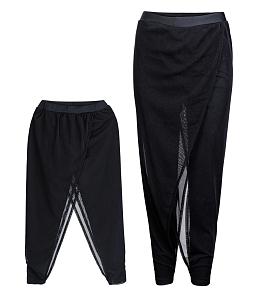 Set quần legging mẹ và bé phối lưới - Đen